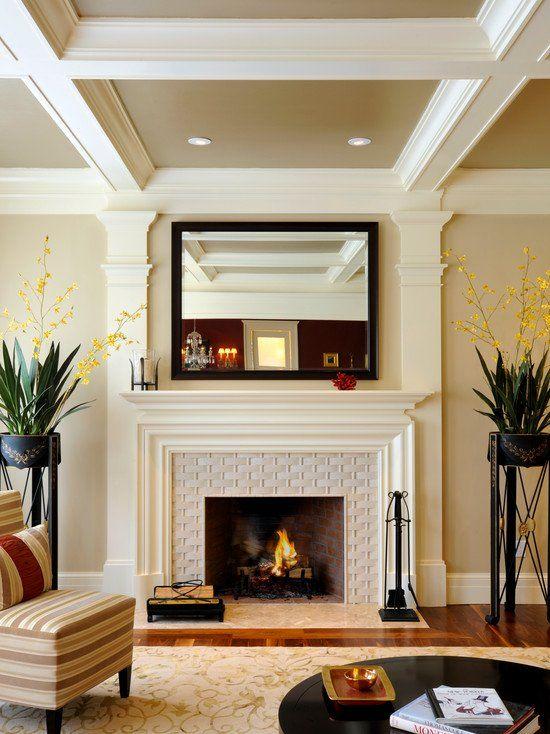 Transitional Fireplace   Beautiful Homes Design