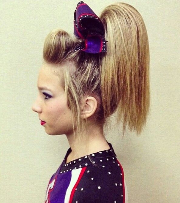 sideview of the cheer poof