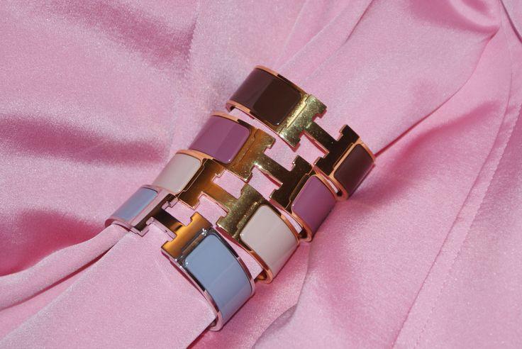 ##Pink##Pastel## Hermes H-Armband H-Bracelet