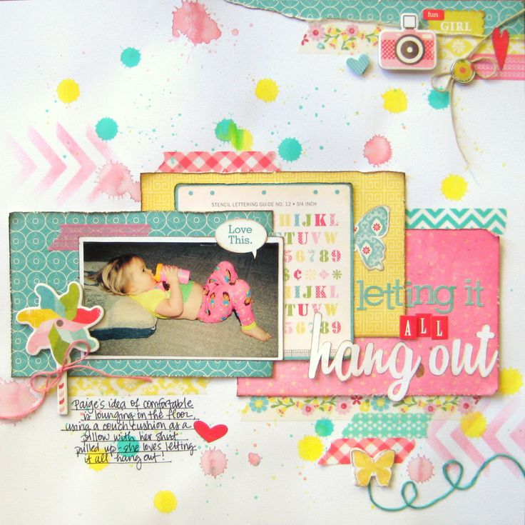 Letting it All Hang Out - Scrapbook.com by Missy Whidden.