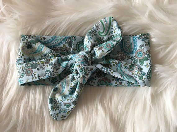 Small Patterned bow wrap