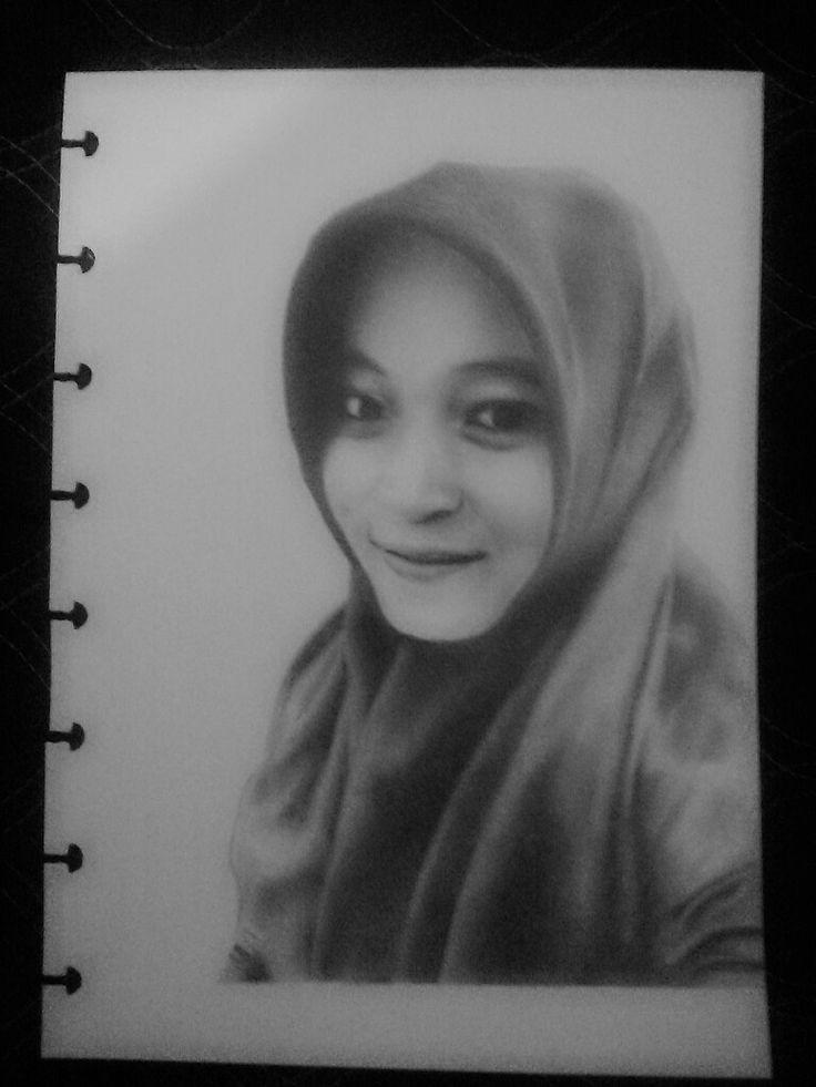 Sketsa wajah orderan 01  pensil di kertas a5