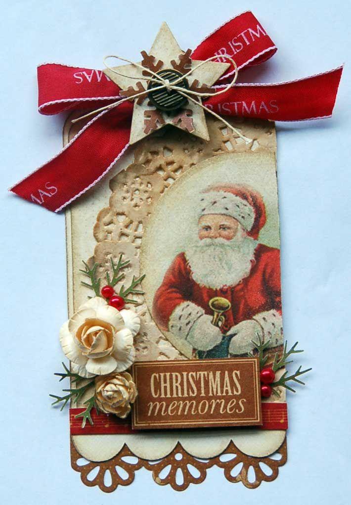Christmas tag vintage style