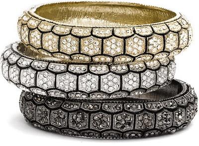 Tasha Crystal Honeycomb Hinged Bracelet