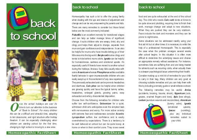 Back To School by Owen Homoeopathics via slideshare