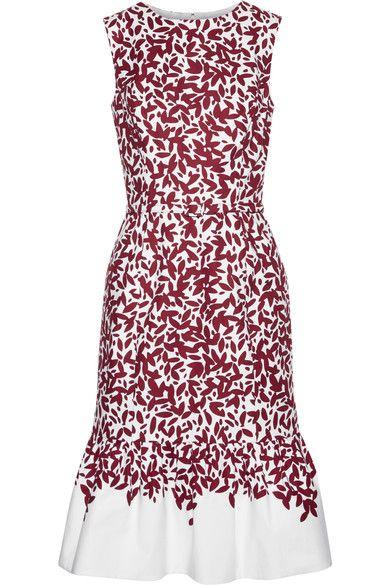 Oscar de la Renta | Printed cotton-blend canvas dress | NET-A-PORTER.COM