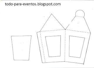 Las 25 mejores ideas sobre faroles de navidad en pinterest - Porche para colorear ...
