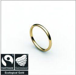 Fairtrade wedding band.