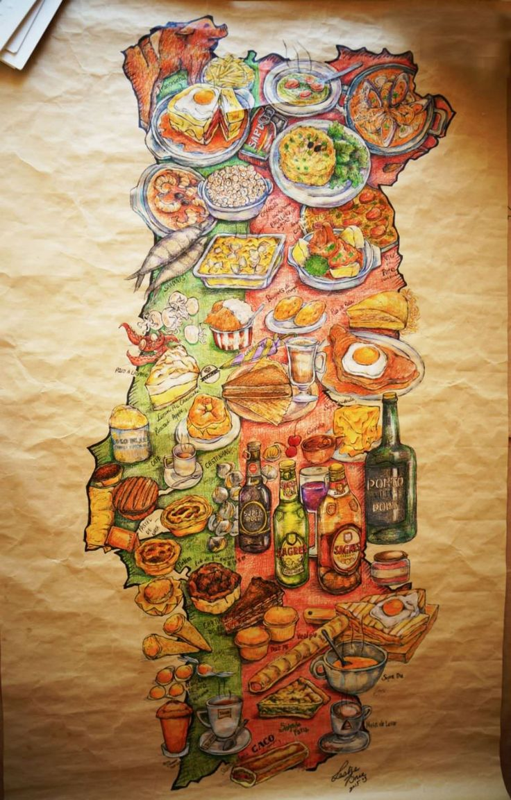 Portugal Food Guide by Leslie Wang - Map mapa da comida portuguesa