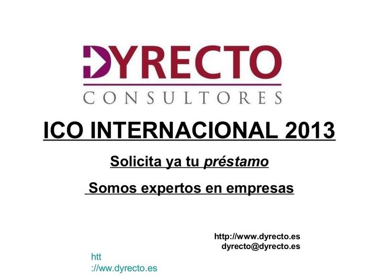 Solicita el ICO INTERNACIONALIZACIÓN, somos expertos en financiación empresarial también en el exterior y te ayudamos a obtenerlo.