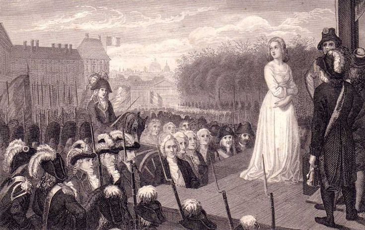 « The legend that leads the Queen to the scaffold is made of many different elements. Are included the king's sisters scoldings […] calumnies […] epigrams […] infamies […] hostilities […] resentments…Marie-Antoinette herself, her innocent frivolity, her feathers, her diamonds, her Polignac, her long and thoughtless youth. »