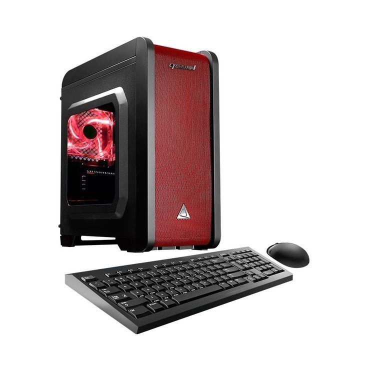 CybertronPC - Electrum Desktop - AMD A6-Series - 16GB Memory - 1TB Hard Drive - Red