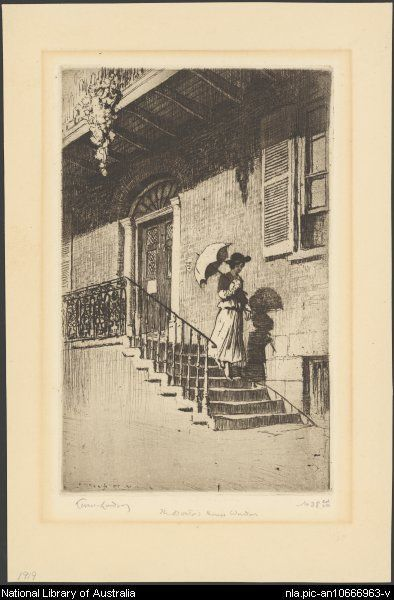 The doctor's house, Windsor, NSW, 1919 Sir Lionel Lindsay