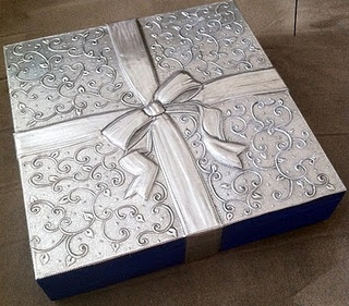 Gift Tea Box. Repujado