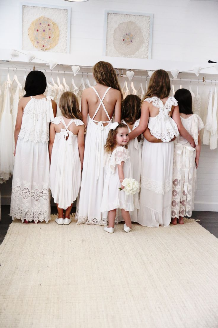 Girls white dresses by Tea Princess perfect for family photos, weddings, flowergirls, communion