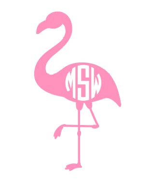 You know we love flamingos on everything! And they are SUPER POPULAR this summer. Decals by Gracie Mae Gifts.