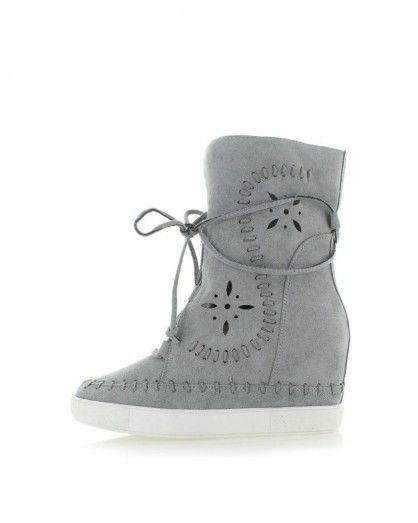 Sivé platformové topánky Wera