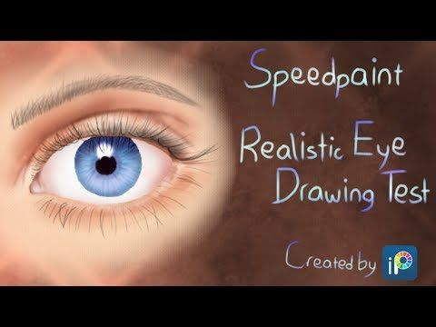 Speedpaint - Realistic Eye Drawing Test - YouTube