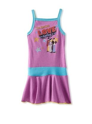 61% OFF Rowdy Sprout Kid's Beatles Love Tank Dress (Purple)