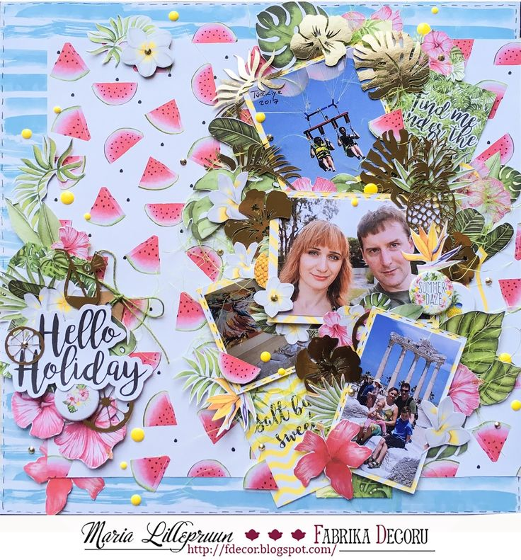 Tropical scrapbook layout by Maria Lillepruun
