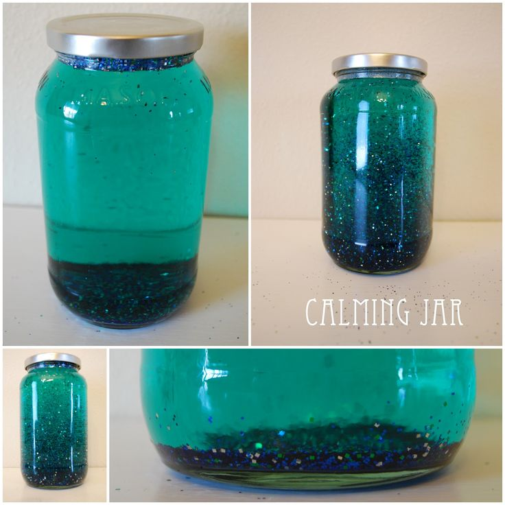 When I saw this Calming Jar  on Pinterest , I knew I needed to make one for Parker. I need all the help and ideas I can get with that kid. ...