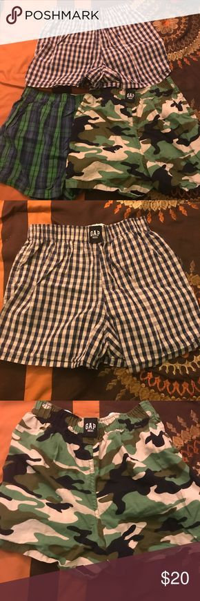 Gap Boy's boxers bundle Gap Boy's boxers bundle. Never worn. New condition. Wrinkled from storage. Super cute designs. Size Small 6/7 GAP Other