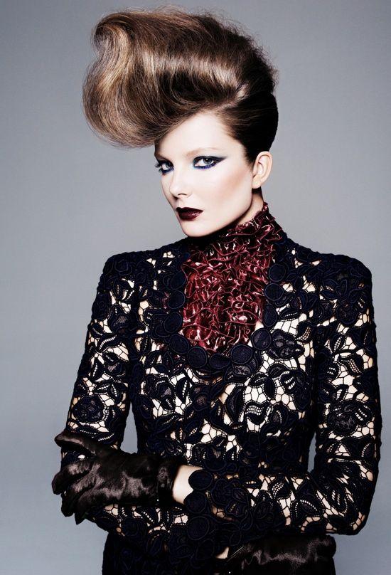 allure us, editorial, beauty, hair, eniko mihalik, november 2011, tom munro, paul cavaco