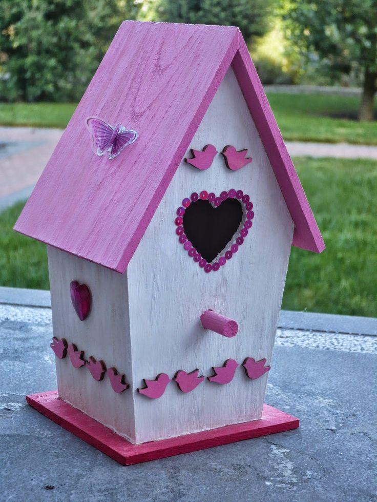 Vogelhuisje Decoreren-Birdhouse Decorate