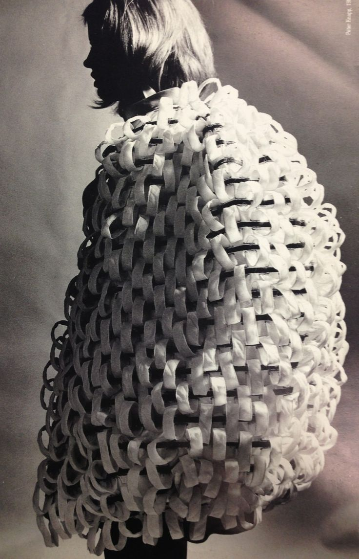 Sculptural Fashion - woven cage dress with oversized proportions; 3D fashion; wearable art
