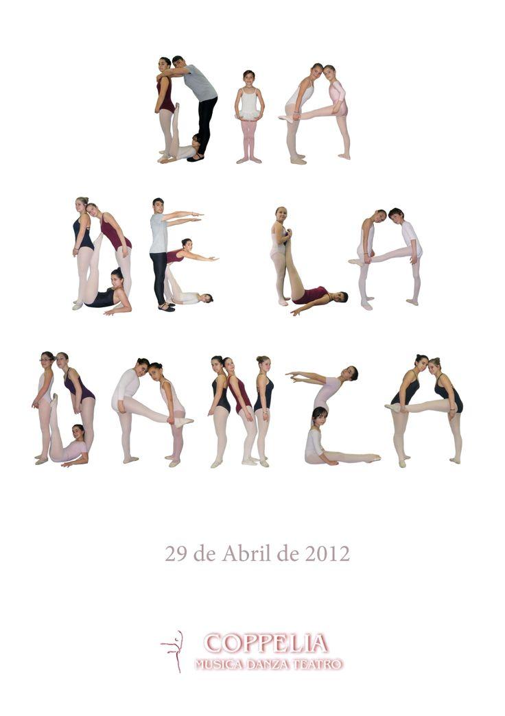 Cartel para celebrar el Día de la Danza en el Conservatorio Coppelia Vigo