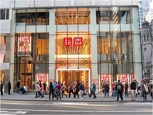 Uniqlo's New York Flagship Store (89,000 sq. ft.) located on Fifth Avenue.