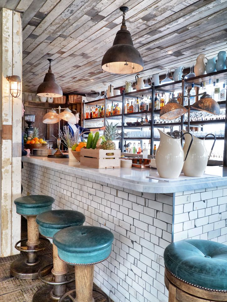 lovely tile and marble combination spaces pinterest marbles juice and bar - Marble Cafe Decoration