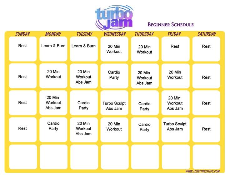 ... Beginner, Fitness Motivation, Turbo Jam Schedule, Beginner Schedule