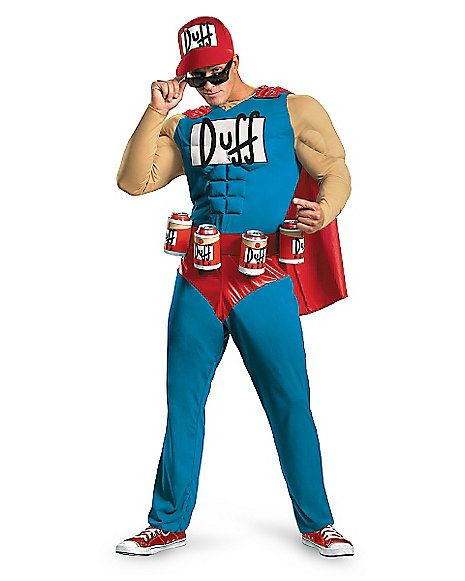 Adult Muscle Duffman Costume - The Simpsons - Spirithalloween.com