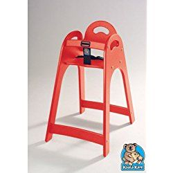 Designer High Chair Color: Red