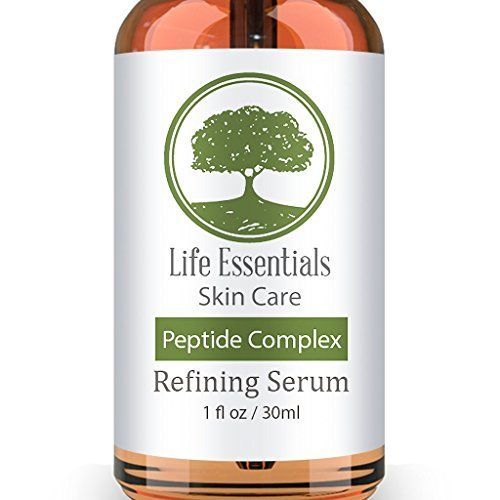 Peptide Complex Serum For Face  Boost Collagen To Heal  Repair Skin  Anti Aging Refines Wrinkles Evens Skin Tone Restores Elasticity  Firmness  Hyaluronic Acid Aloe Vera Jojoba Oil Vitamin E -- Click image to review more details.