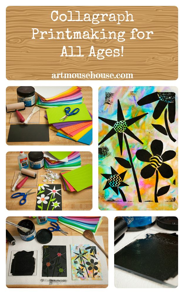 this is so fun! collagraph printing easy enough for all ages. give it a try! step-by-step instructions at artmousehouse.com