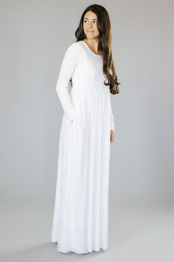 Q.Noor LDS Temple Dress Elaine