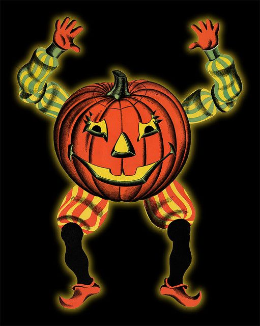 """1960's Halloween """"Goblin"""" made by Beistle- I think we hung this one up in the window."""