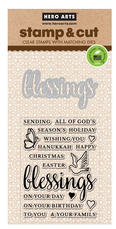 Blessings Stamp & Cut