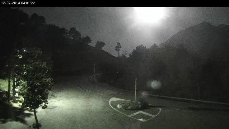 Webcam Col de la Serra - La super Lune en direct (2014-07-12)