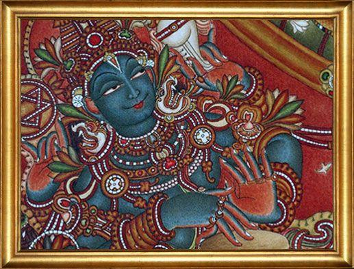 Mural murals kerala murals kerala mural sadaanandan for Asha mural painting guruvayur