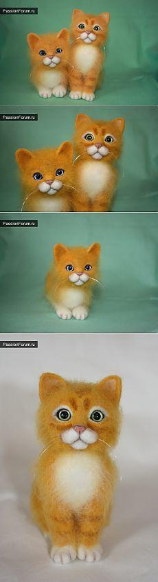 Рыжие котята. / Валяние. Работы пользователей. / PassionForum - мастер-классы по рукоделию