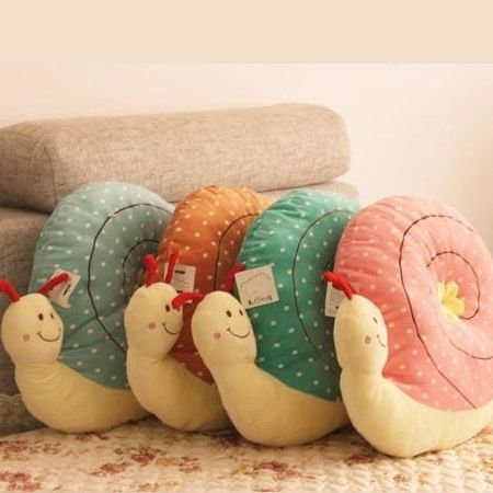 Lovely Snail Shaped Plush Cushion Mat Pad Pillion Decoration Toy Doll | eBay