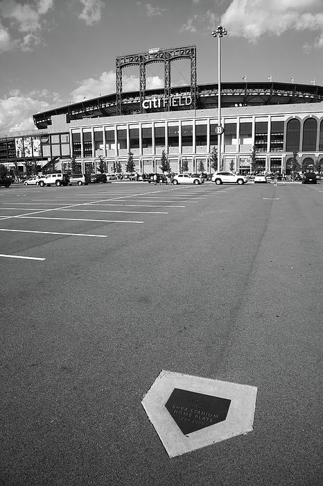 Citi Field - New York Mets. Old Shea Stadium home plate, now in the parking lot at Citi Field. The new stadium was modeled after old Ebbets Field in Brooklyn. http://frank-romeo.artistwebsites.com/