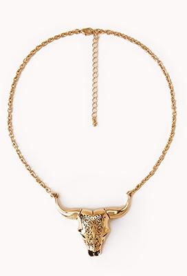 Filigree Longhorn Necklace | FOREVER21 - 1062664634