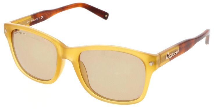 Dsquared DQ0105 39J Yellow Wayfarer Sunglasses