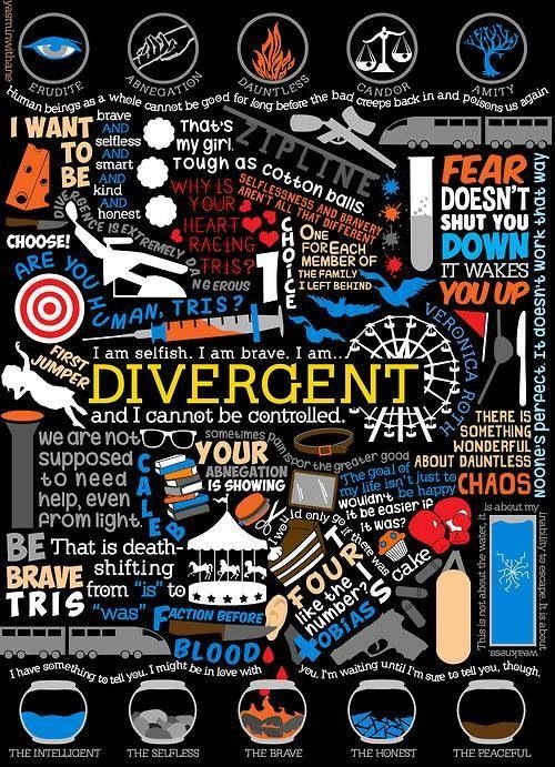 Book Cover Collage Quote : Divergent i am loving this book and need to get hold of