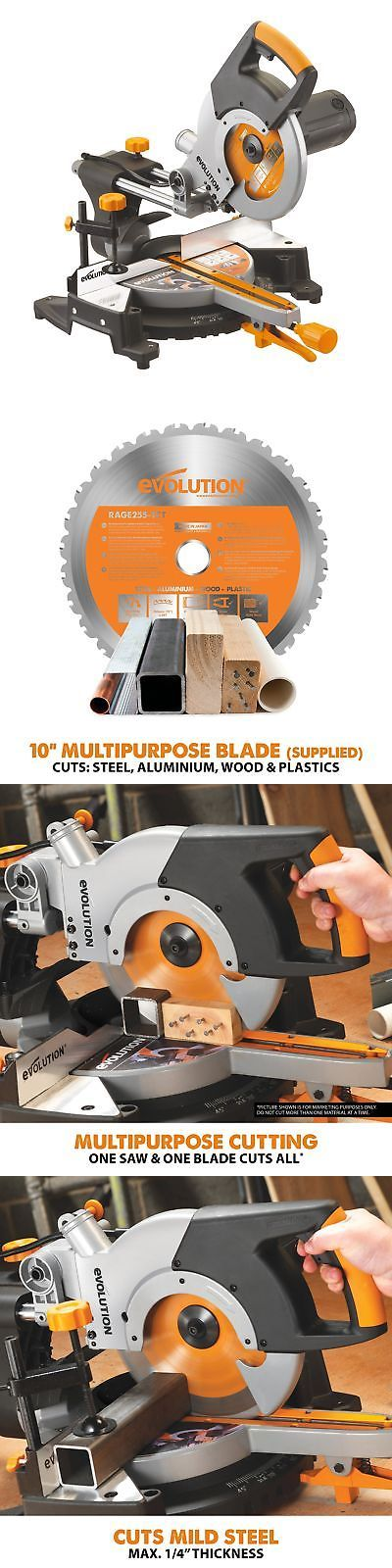 Miter and Chop Saws 20787: Evolution Power Tools Rage3 10-Inch Multipurpose Cutting Compound Sliding Miter -> BUY IT NOW ONLY: $227.79 on eBay!