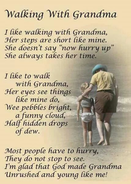 This reminds me of my grandma and I when I was a little girl.